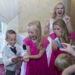 Bridesmaids find their playing card