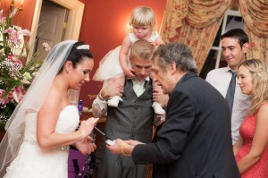 Magic for the bride and groom