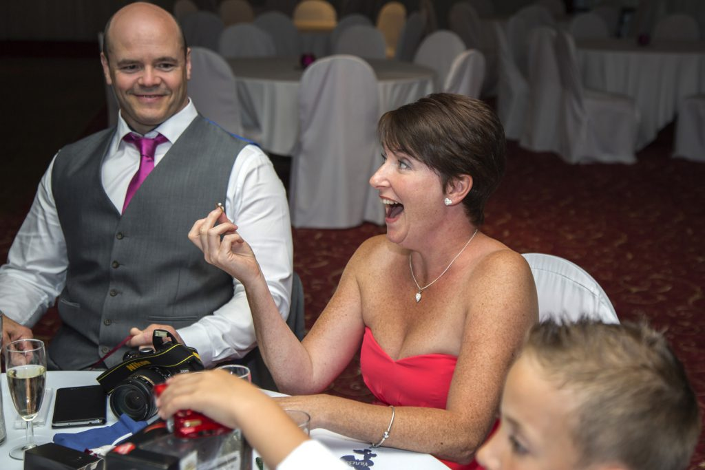Magician amazes wedding guest