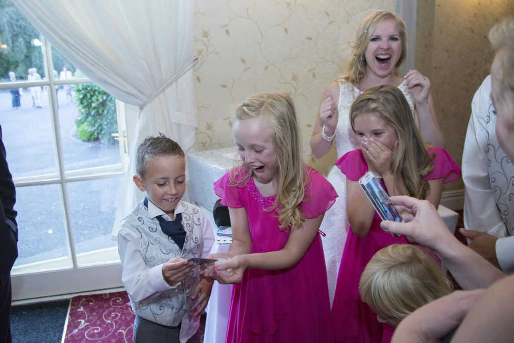 Bridesmaids amazed