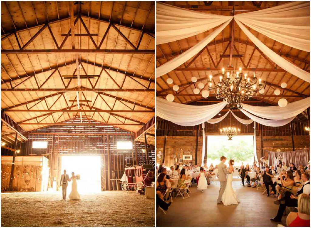 Magnificent barn transformed into a wedding reception