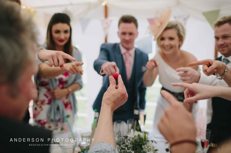Celebration in a marquee