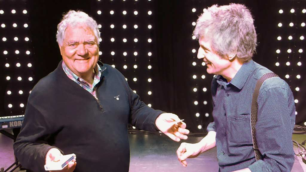 With Max Boyce