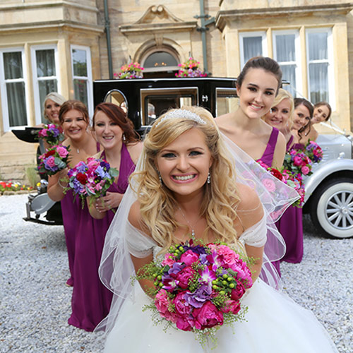 Brides at wedding